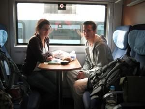 Lukas und Susi in der Bahn